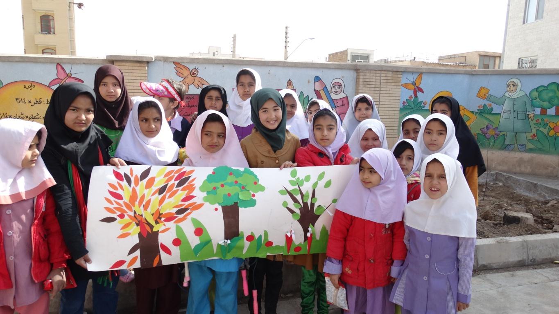جشن درختکاری در مرکز آموزشی حامی در سمنان برگزار گردید