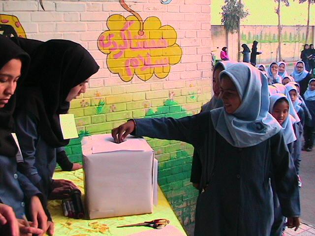 انتخابات شورای دانش آموزی، مشق دموکراسی