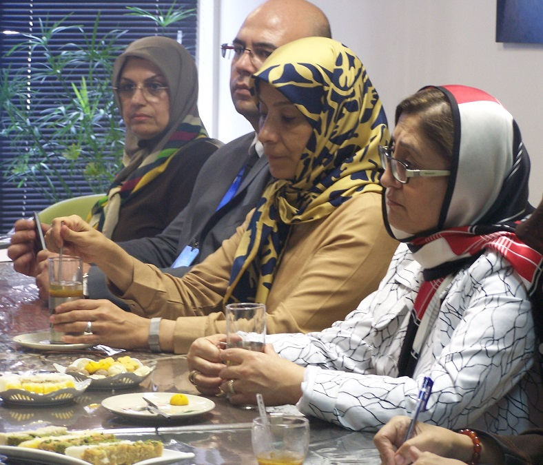 دیدار اعضاء هیئت مدیره انجمن حامی با فاطمه شاهین شهردار شهر غازی انتب ترکیه