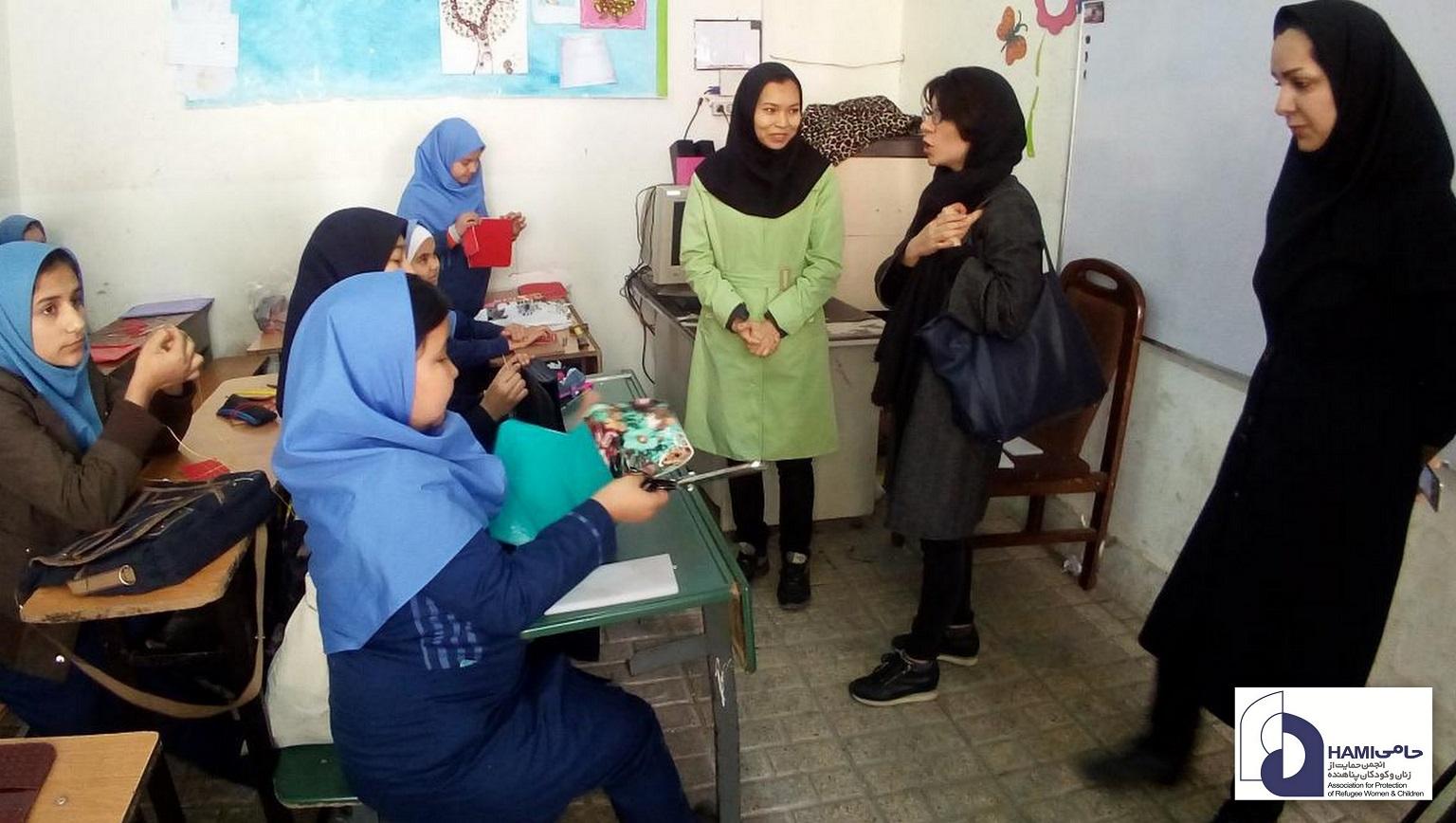 بازدید نماینده یونیسف مرکز آموزشی حامی واحد مشهد