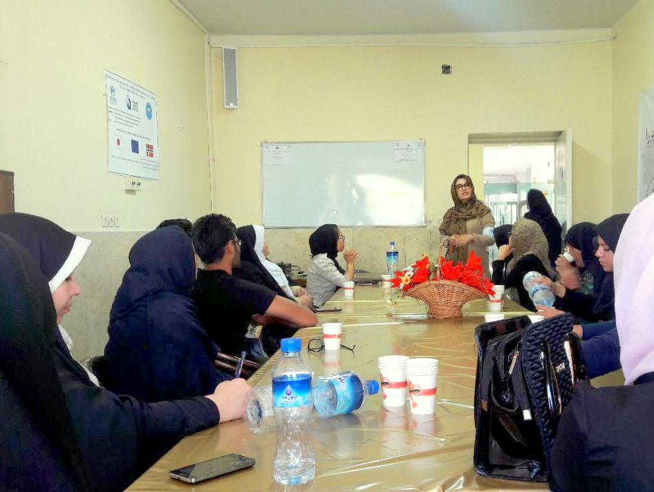 بازدید نمایندگان کمیساریای عالی سازمان ملل متحد در امور پناهندگان از مرکز آموزش پایه حامی در استان سمنان