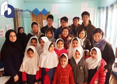 بازدید دانشجویان هنگکنگ از مرکز آموزش پایه حامی-جنتآباد