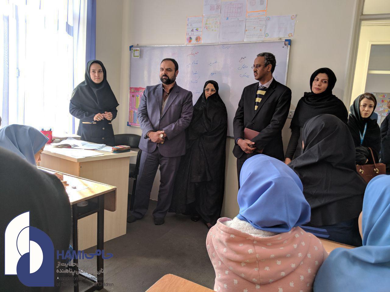 بازدید نمایندگان اداره اتباع خراسان رضوی و نمایندگان کمیساریای عالی سازمان ملل متحد در امور پناهندگان از مرکز حامی در مشهد