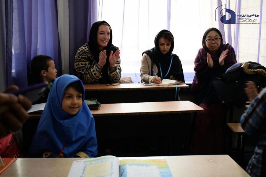 بازدید نمایندگان کمیساریای عالی سازمان ملل متحد در امور پناهندگان از مرکز خدمات جامع اجتماعی حامی